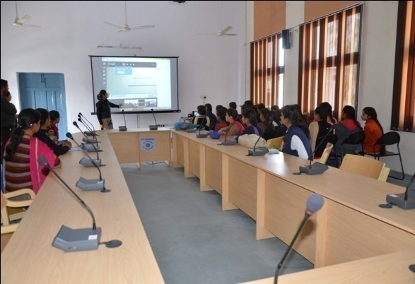 A class in progress at Finishing School, Govt College