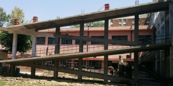Construction of Ramp for the physically challenged at GCW , Amritsar