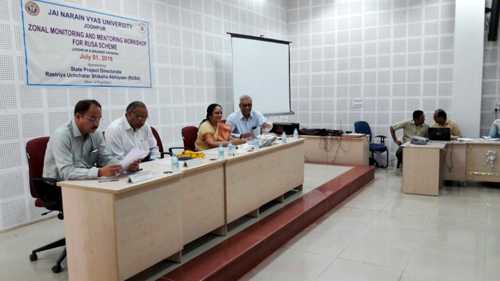 First Monitoring and Mentoring Workshop, JNV Univ. Jodhpur (1)