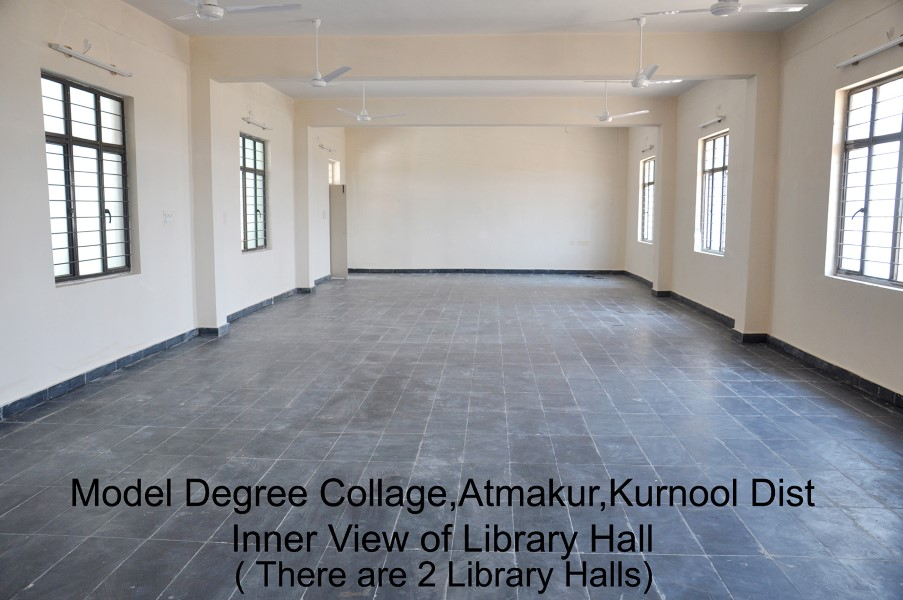 Model Degree College Library Hall