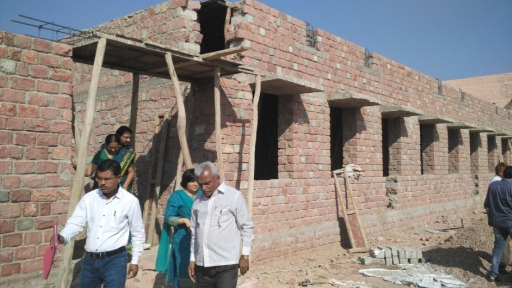 New construction of Class rooms at Govt CollegeNagaur