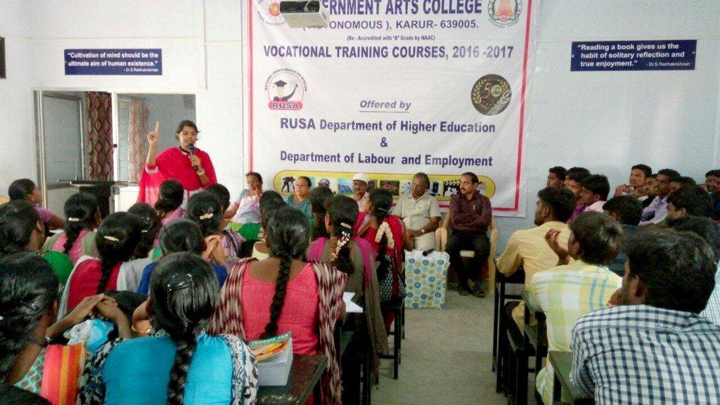 Orientation at Government Arts College, Karur