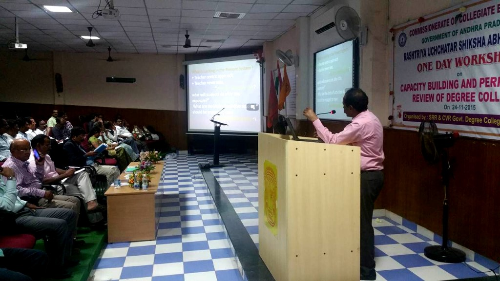 31st Aug, 2015 - Workshop at PBN Siddhartha College