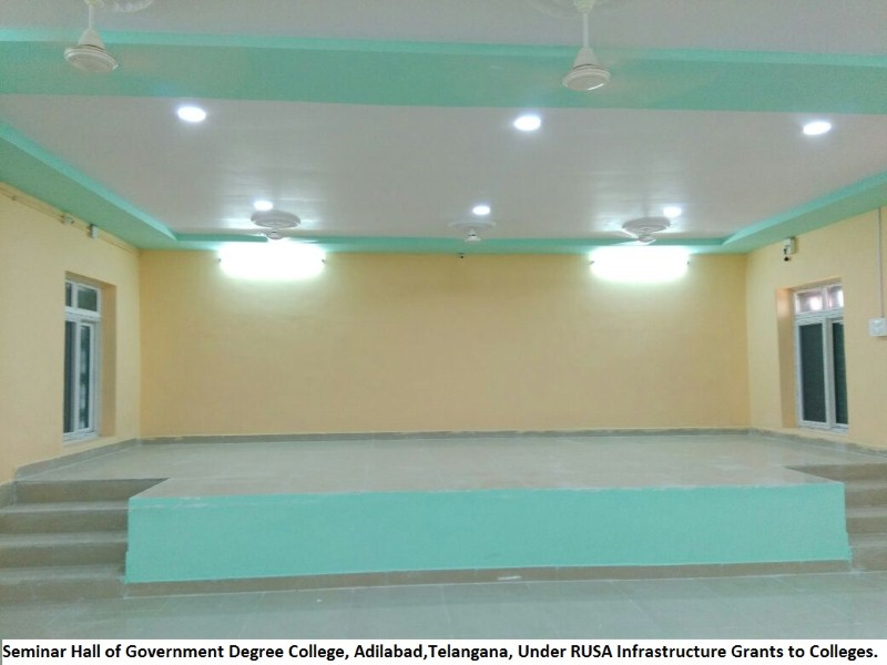 Seminal Hall of GDC, Adilabad under RUSA