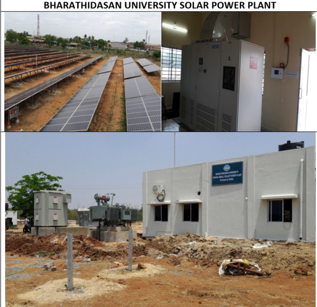 Solar Power Plant - Bharathidasan University
