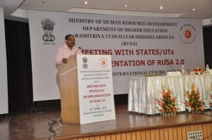 Meeting with states on implementation of rusa 2.0 on 24 april 2018