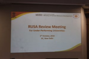 3 October 2018 Review Meeting for Under-Performing Universities