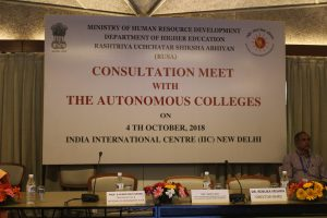 4 October 2018 Consultation Meet With The Autonomous Colleges